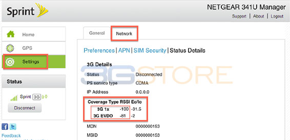 how to find rssi of network