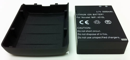 5000mAh Extended Battery & Cover for Verizon 3G/4G MiFi 4510L - Lasts up to 3x Longer than Standard Battery!