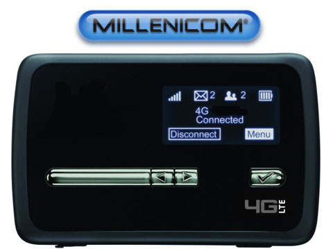 MiFi 4620LE Hotspot for Millenicom's $69.99/mo 20GB 3G/4G Plan (Includes Activation Fee)