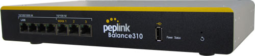 Peplink Balance 310 Load Balancing/Bonding Router (3 WAN, 1 USB)
