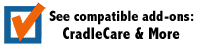 see compatible add-ons - warranties, cradlecare, ecm