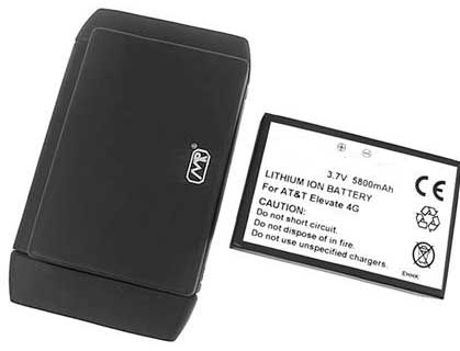 5800mAH Extended Battery & Cover for AT&T Elevate Hotspot - Lasts up to 3x Longer than Standard Battery!