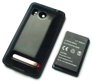 3200mAh Extended Battery & Cover for HTC EVO 4G