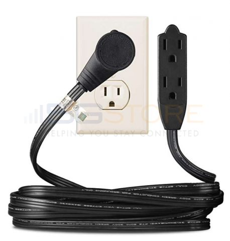 black 1ft 360 degree rotating flat plug extension cord wire. Black Bedroom Furniture Sets. Home Design Ideas