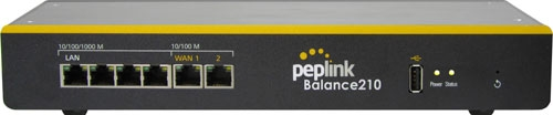 Peplink Balance 210 Load Balancing/Bonding Router (2 WAN, 1 USB)