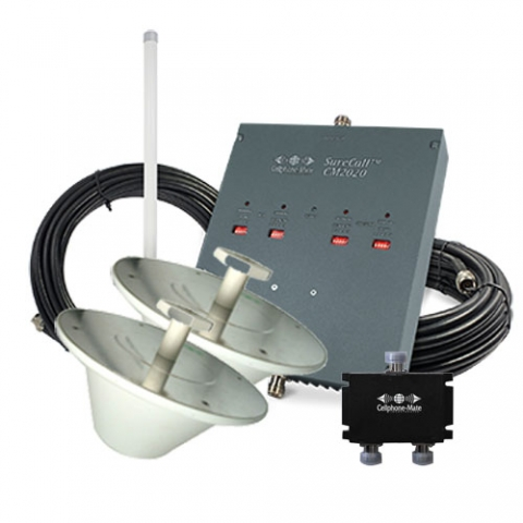 SureCall Dual-Force Highly Linear 72db Repeater Kit - Omni/2 x Dome [800/1900mhz]