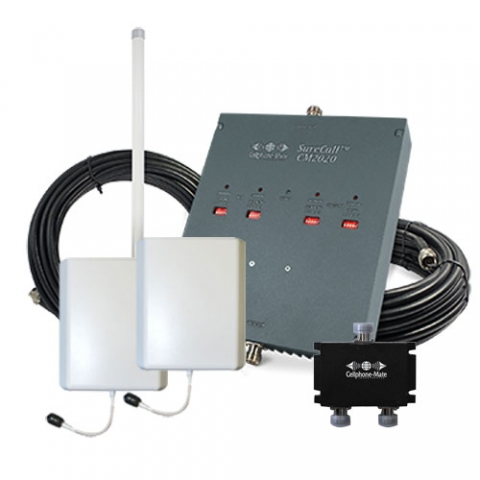 SureCall Dual-Force Highly Linear 72db Repeater Kit - Omni/2 x Panel [800/1900mhz]