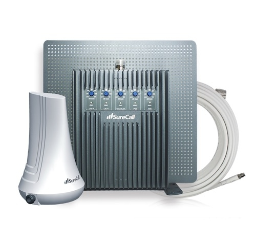 SureCall EZ 4G 72db 5-Band Desktop Repeater Kit [700/800/1700/1900/2100mhz]