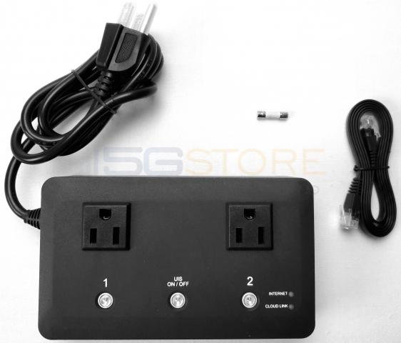 5Gstore Remote Power Switch - 2 Outlets - Remote Automation and Remote Rebooting - App Controlled