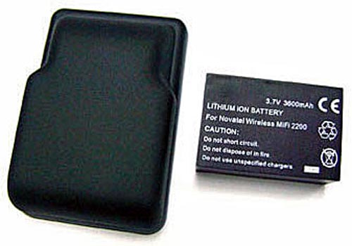 3600mAh Extended Battery & Cover for Novatel MiFi 2200 - Lasts up to 3x Longer than Standard MiFi Battery!