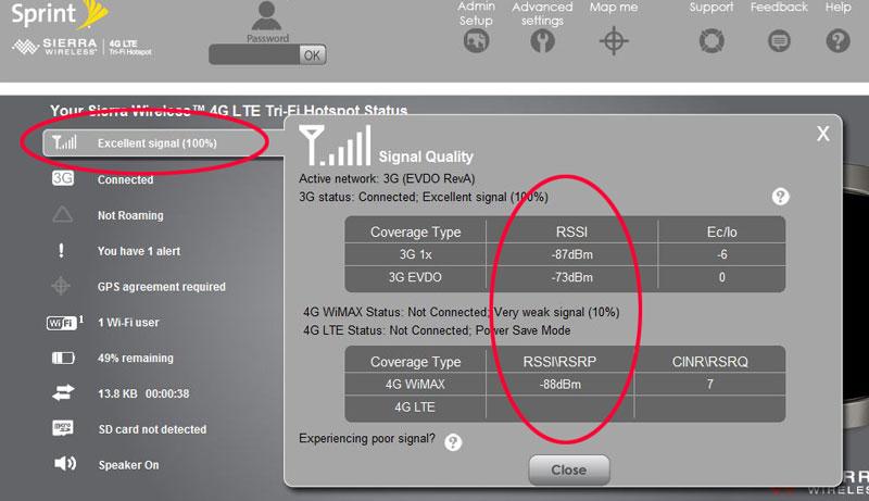 Sprint Sierra Tri-Fi Hotspot (3G EVDO/4G WiMAX/4G LTE) : EVDOinfo.com